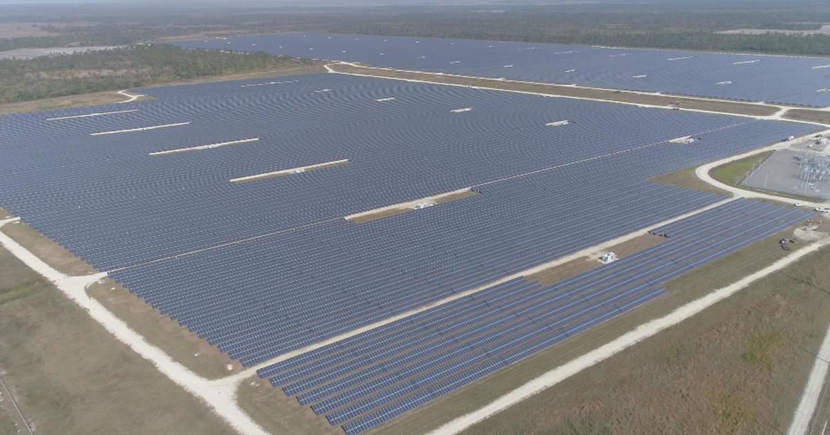 Solar City Florida >> Babcock Ranch Inside America S First Solar Powered Town Cbs News