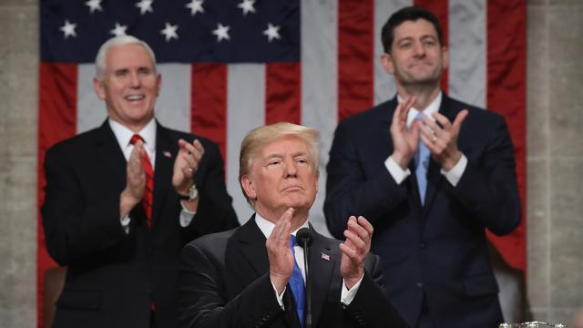 U.S. President Trump delivers first State of the Union address to a joint session of Congress in Washington