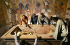 Egypt's antiquities chief Zahi Hawass (r