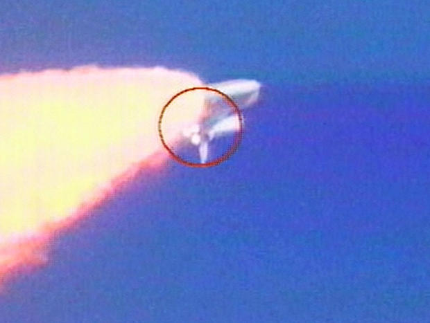 Object Falls From Shuttle On Launch