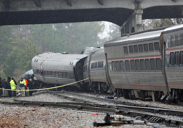 Emergency responders are at the scene after an Amtrak passenger train collided with a freight train and derailed in Cayce South Carolina