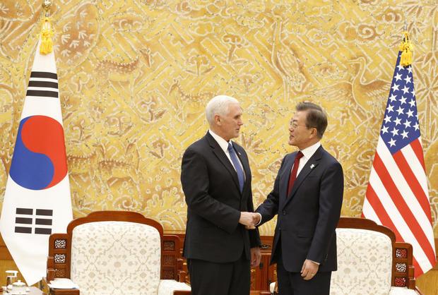 U.S. Vice President Mike Pence visits South Korea