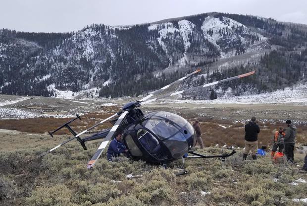 Elk Crashes Helicopter