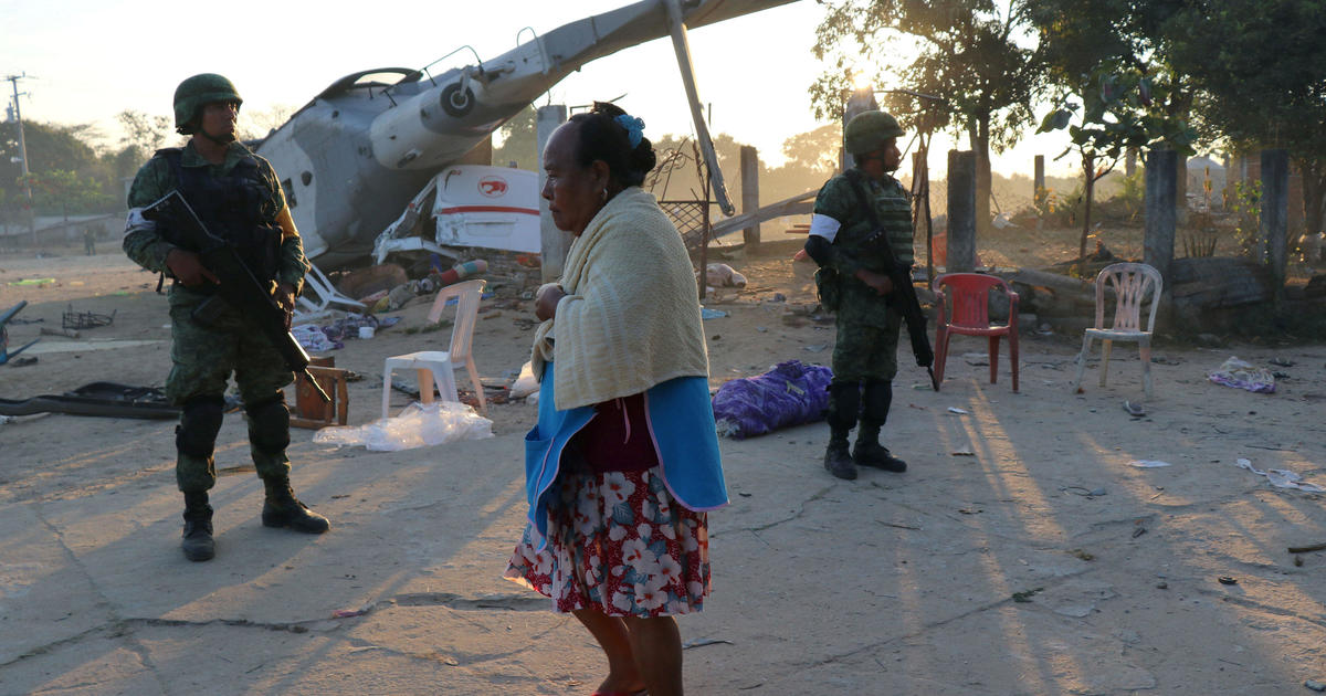 13 killed in helicopter crash after Mexico earthquake