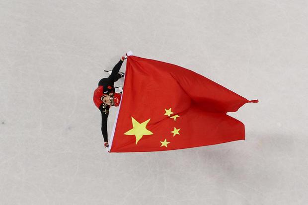 Wu Dajing -- Short Track Speed Skating - Winter Olympics Day 13