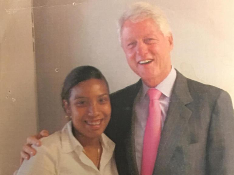 Noriella Santos with former President Bill Clinton