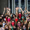 Women wear knickers as masks during a demonstration on International Women's Day in Buenos Aires