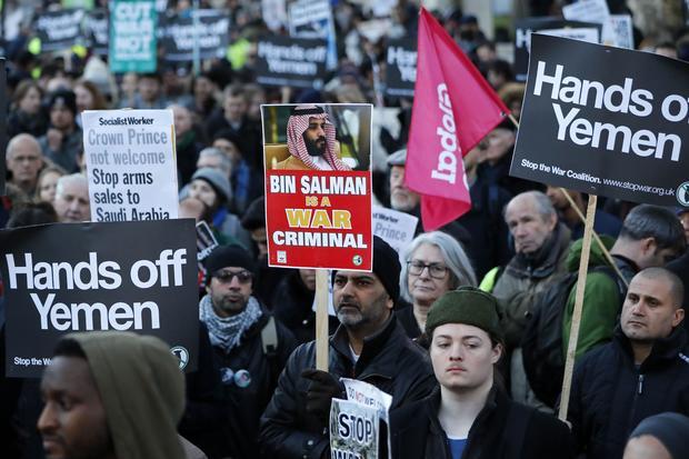BRITAIN-SAUDI-PROTEST