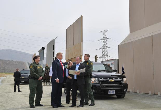 trump border wall san diego california