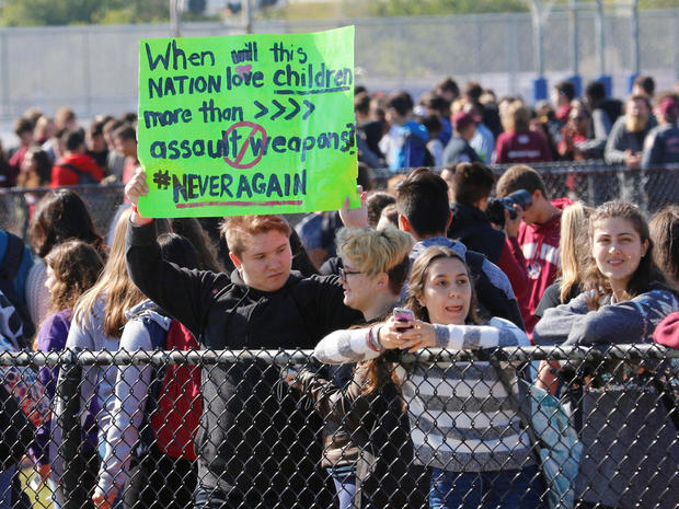 Student walkouts across U.S. protest gun violence
