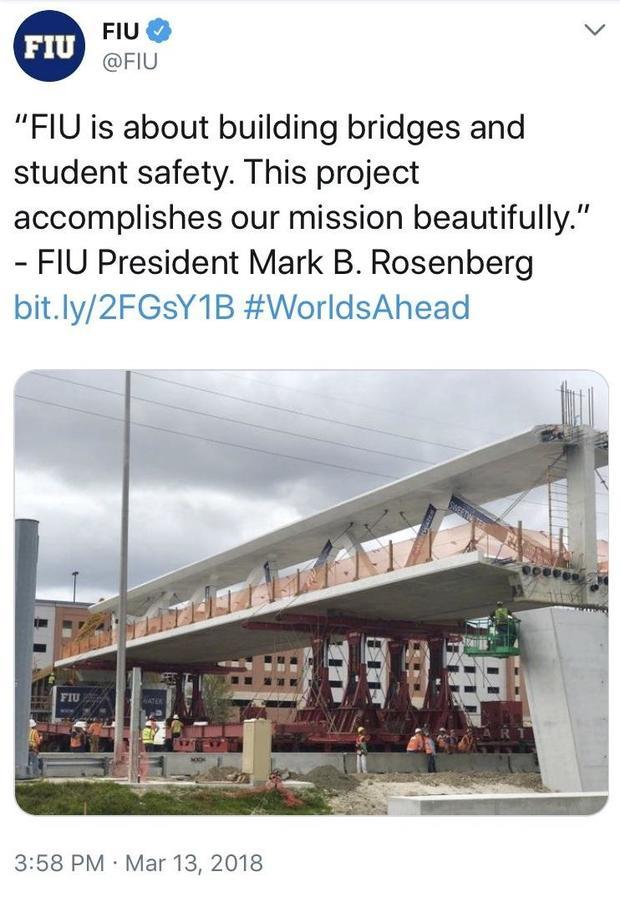 Bridge Collapse Today Florida International University
