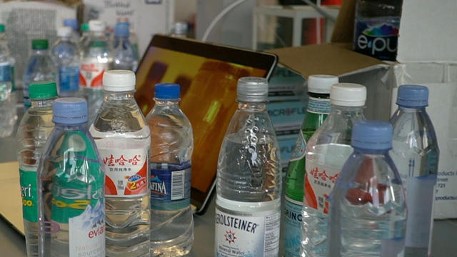 Does your bottled water contain plastic? - CBS News