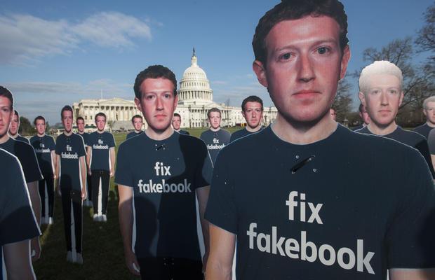 Avaaz Facebook/Zuckerberg rally on Capitol lawn