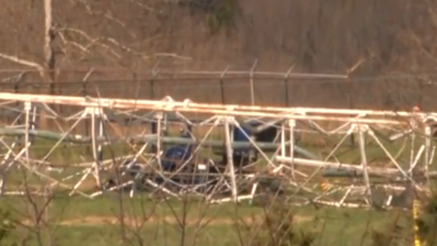 TV Tower collapses in Fordland, Mo. field