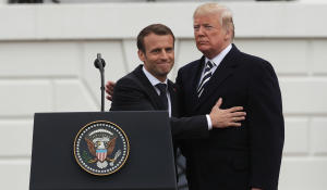 Iran nuclear deal tops agenda during Macron visit