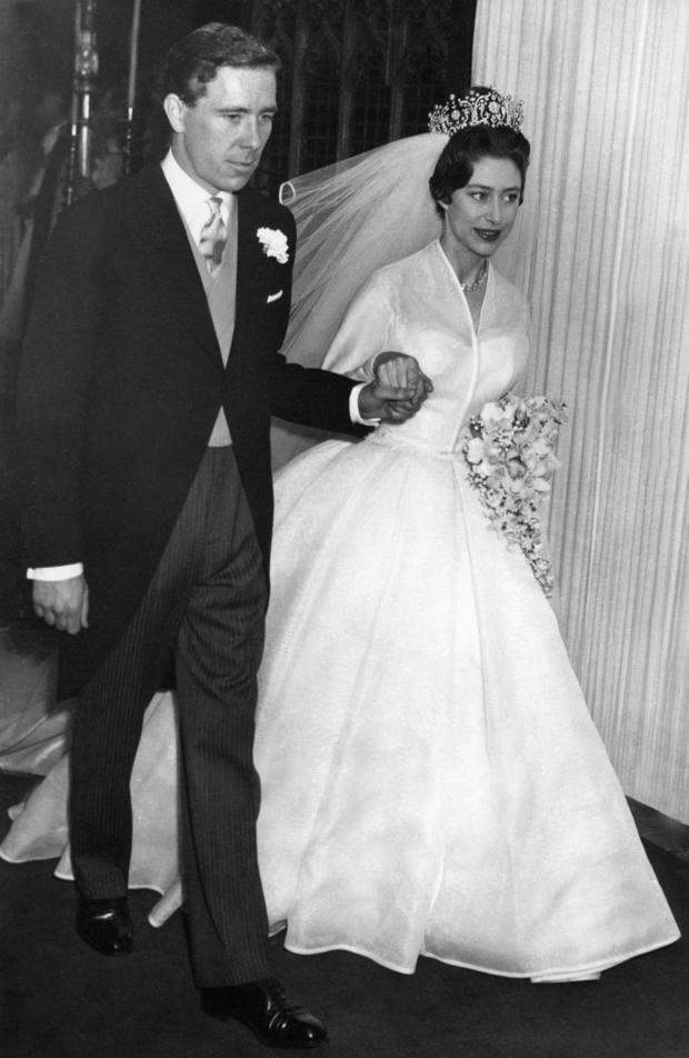The newly-wed Princess Margaret, the you