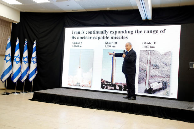 Israeli Prime minister Benjamin Netanyahu speaks during a news conference at the Ministry of Defence in Tel Aviv