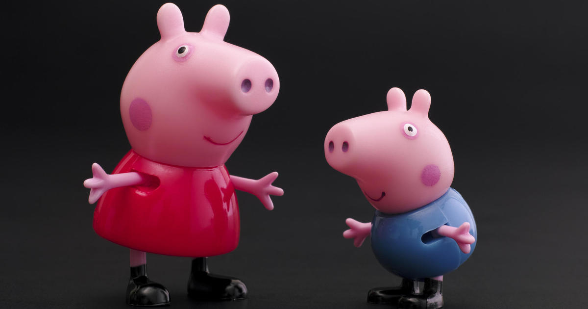 Peppa Pig, seen as a
