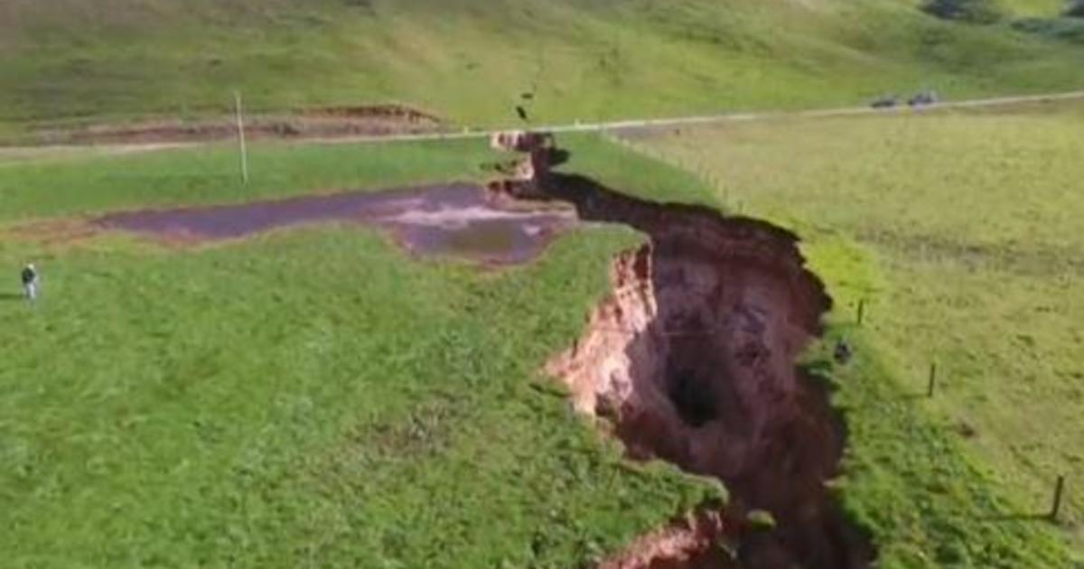 New Zealand Sinkhole Appears On Dairy Farm Near North