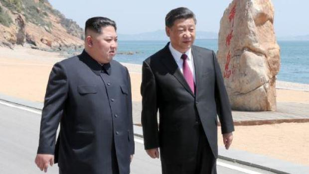 Image result for Kim Jong Un, Xi Jinping, photos, dalien