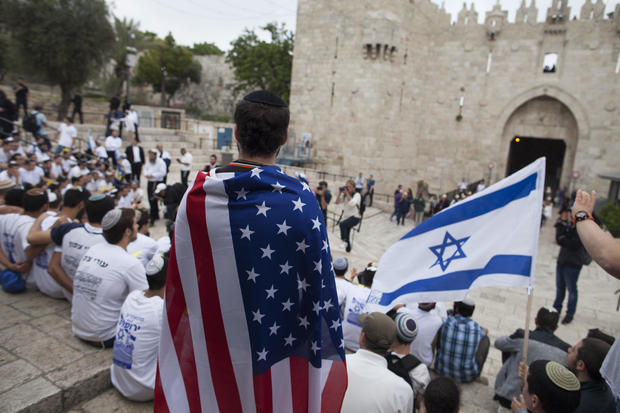 United States, Israeli flags