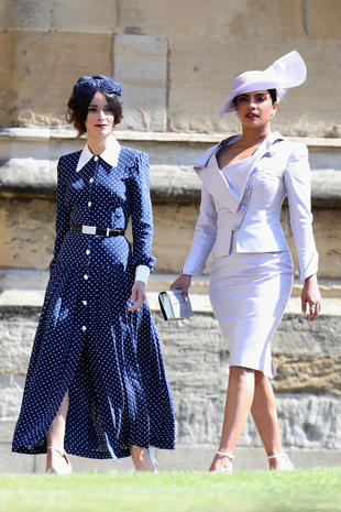 5d30b15fecd5e Abigail Spencer and Priyanka Chopra - Hats and fascinators  Style at the royal  wedding 2018 - Pictures - CBS News