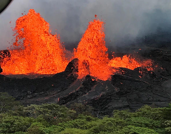 Volcanic eruption in Hawaii
