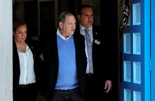 Film producer Harvey Weinstein leaves the New York Police Department's 1st Precinct in Manhattan in New York May 25, 2018.