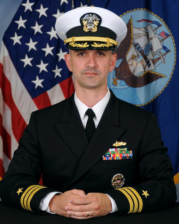 Undated handout photo shows Commander Alfredo J. Sanchez, commanding officer of U.S.S. John S. McCain