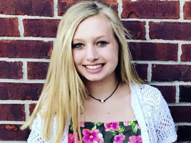 This undated photo provided by the Whistler family shows Ella Whistler, who was shot in a classroom May 25, 2018, at Noblesville West Middle School in Noblesville, Indiana, near Indianapolis.