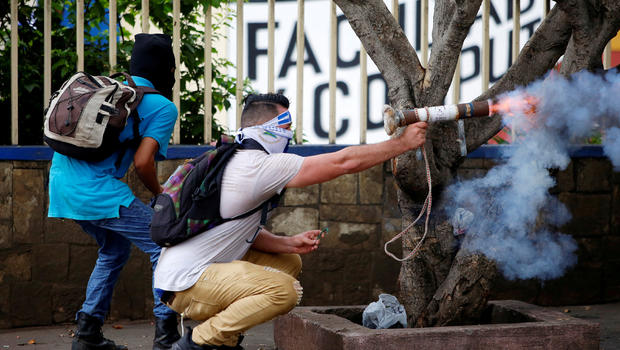 Protesters, students seize university in demonstration against Nicaragua's Daniel Ortega
