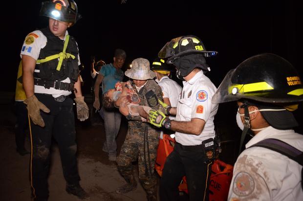 GUATEMALA-VOLCANO-FUEGO-ASH-EVACUATION