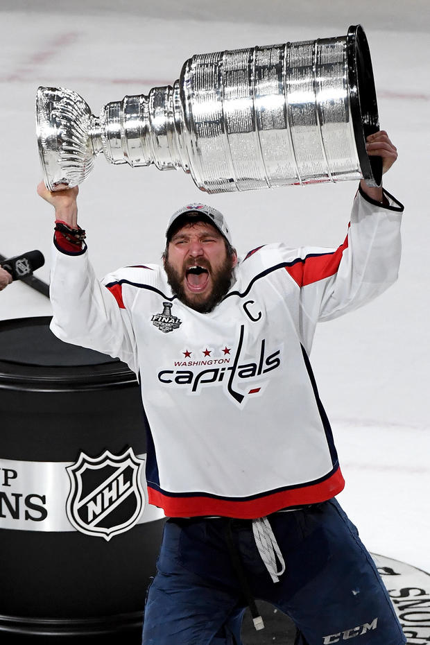 360f1010fb3 2018 Stanley Cup  Washington Capitals win vs. Golden Knights tonight  Alex  Ovechkin wins Conn Smythe Trophy - MVP had 15 goals in Stanley Cup Playoffs  - CBS ...