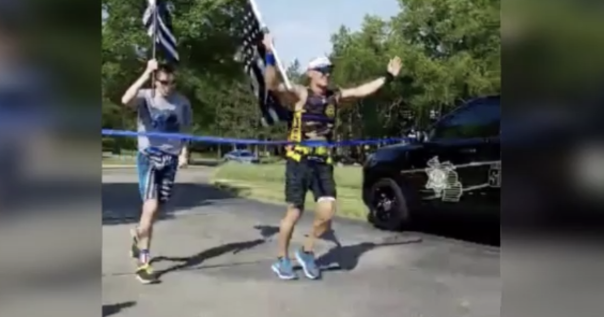 Man runs 160 miles across Michigan to raise money for families of fallen soldiers