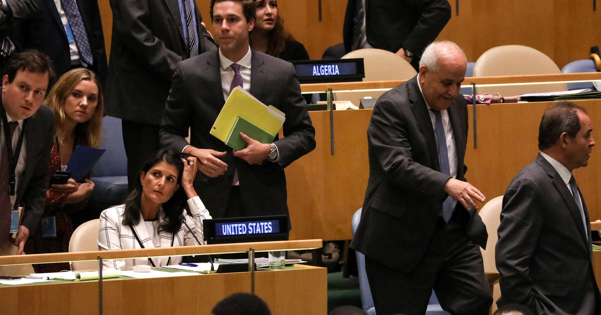 U.N. resolution condemning Israel passes over U.S. objections