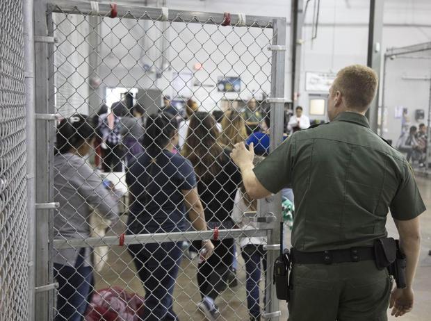 Central Processing at McAllen Border Patrol Facility