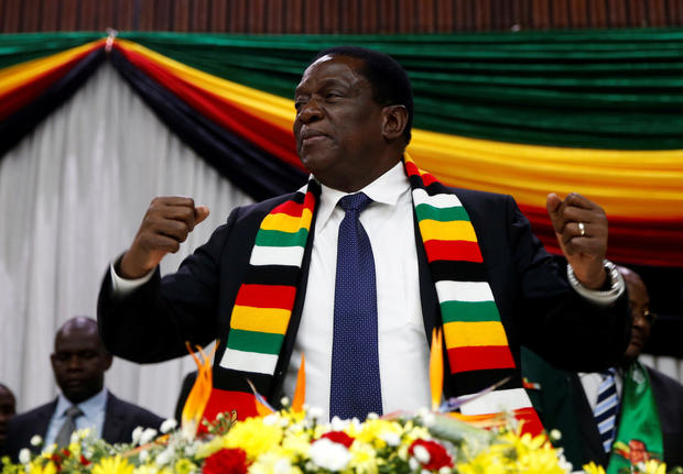 FILE PHOTO: Zimbabwe President Emmerson Mnangagwa announces the date for the general elections in Harare