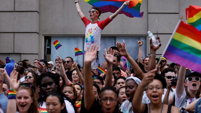 People watch New York City's Pride Parade