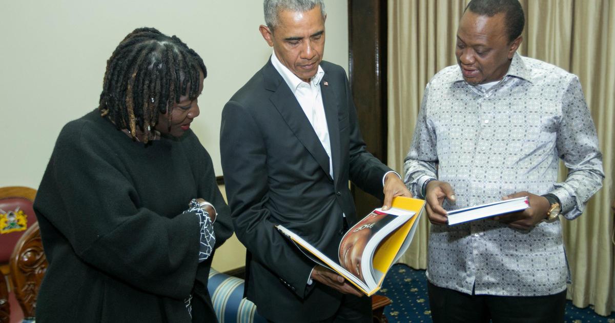Barack Obama in Kenya for 1st time post-presidency