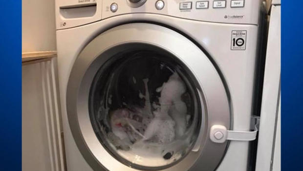 After close call, mom warns others about kids and washing machines