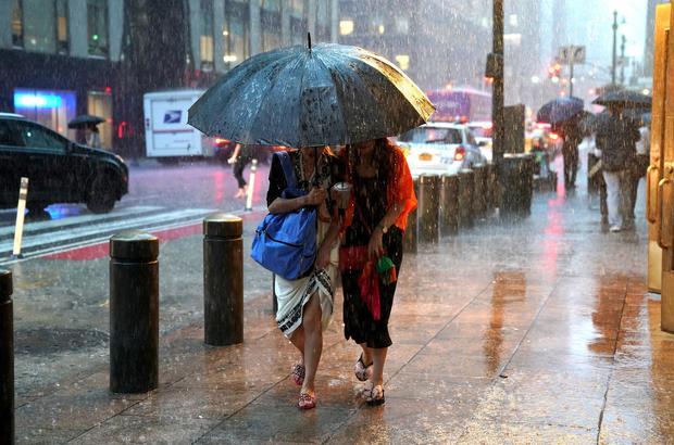 rain, extreme weather -- New York City