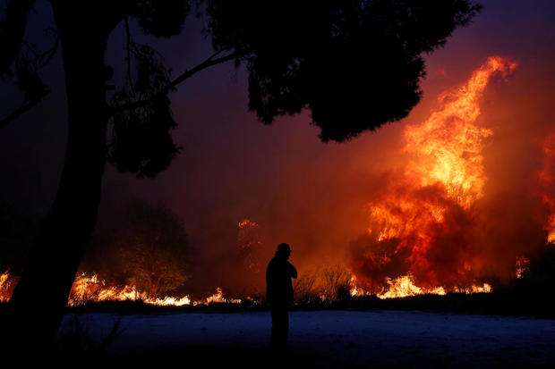 athens, greece forest fires