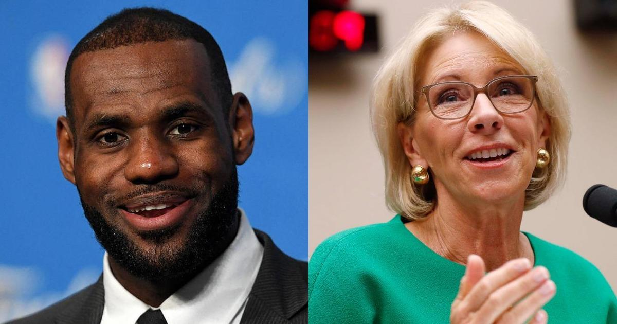 Thousands sign petition calling for LeBron James to replace Betsy DeVos as education secretary