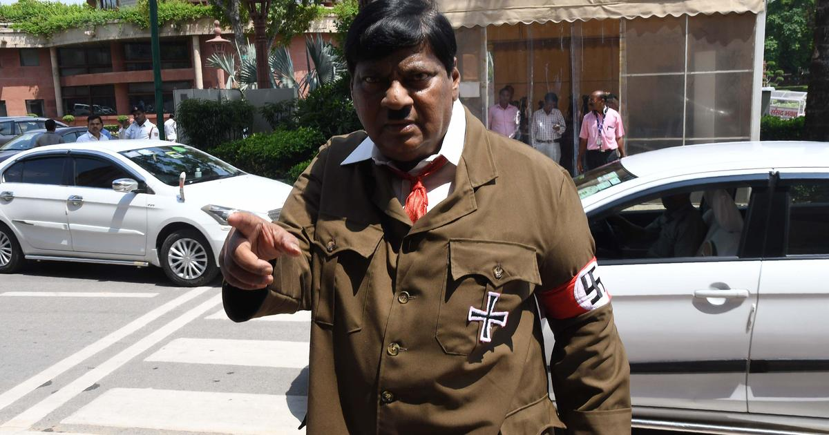 Indian lawmaker dresses up as Hitler to protest PM's policies