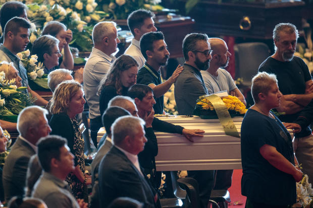 State Funeral Held For 18 Victims Of The Morandi Bridge Collapse In Genoa