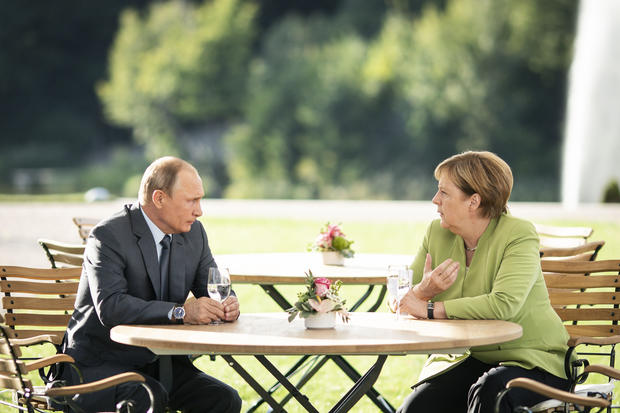 Merkel And Putin Meet At Schloss Meseberg