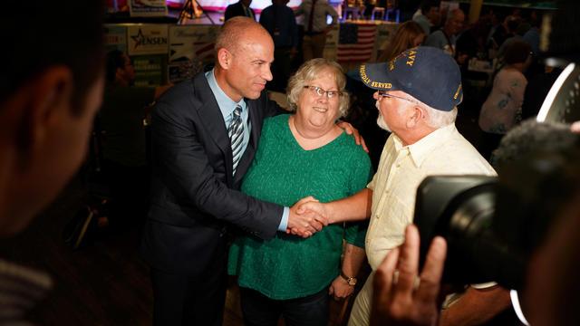 Michael Avenatti attends the Iowa Democratic Wing Ding in Clear Lake Iowa