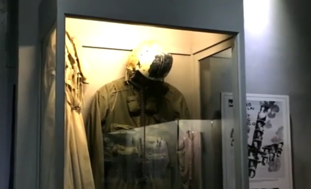 John McCain's flight suit on display at a museum in Hanoi.                KHPO
