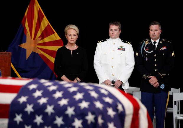 U.S. Senator John McCain lies in state in the rotunda of the Arizona State Capitol in Phoenix