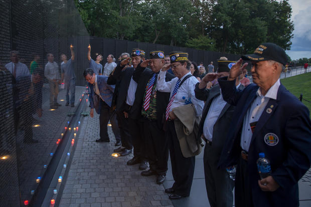 Candlelight Vigil Held For Sen. John McCain (R-AZ) At Vietnam Memorial In D.C.